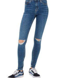 Topshop MOTO Jamie High Waist Ripped Skinny Jeans
